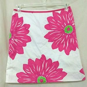LILLY PULITZER Bold Floral Skirt Sz 4